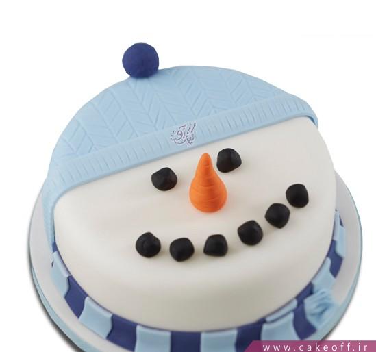 کیک آدم برفی خندان