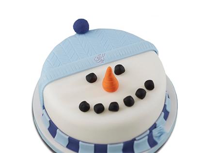سفارش کیک در اصفهان - کیک آدم برفی خندان | کیک آف