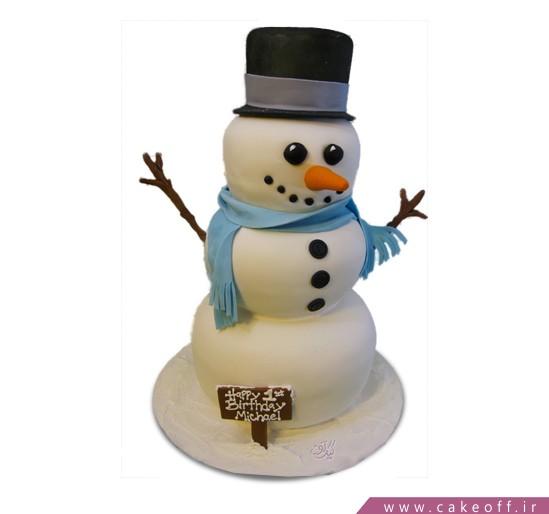 سفارش کیک اینترنتی - کیک آدم برفی مهربان | کیک آف