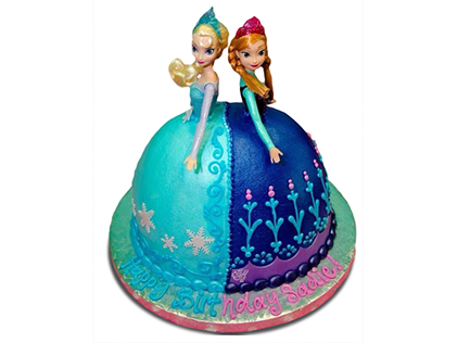 سفارش کیک دخترانه - کیک السا و آنا 1 | کیک آف