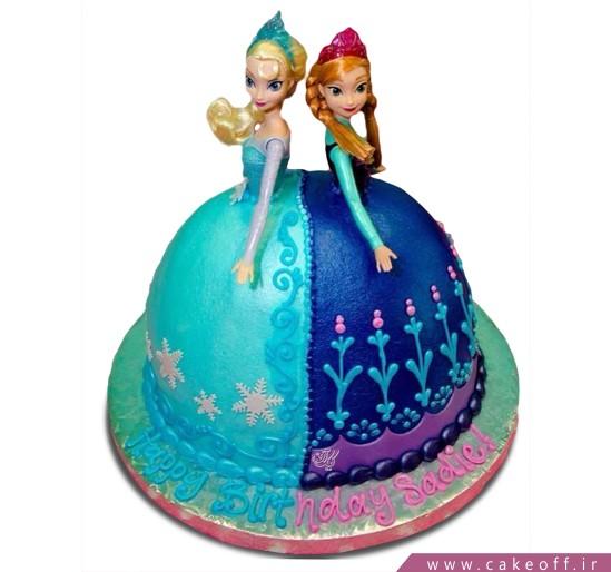 سفارش کیک دخترانه - کیک السا و آنا ۱ | کیک آف