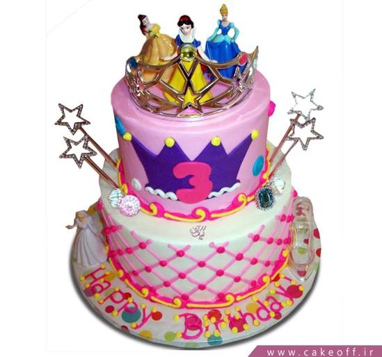 تهیه کیک آنلاین - کیک میهمانی پرنسس ها | کیک آف