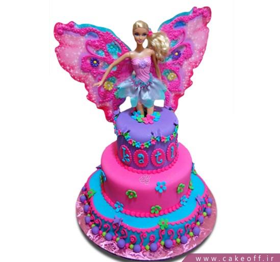 کیک تولد دخترانه - کیک باربی پروانه ای | کیک آف