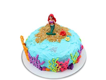 خرید بهترین کیک های تولد - کیک تولد دخترانه پری دریایی | کیک آف