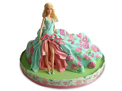 کیک تولد دخترانه - کیک باربی زیبا | کیک آف