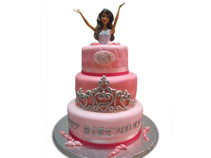 کیک تولد دخترانه - کیک باربی ملکه | کیک آف