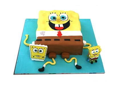 کیک تولد کودک - کیک باب اسفنجی خندان | کیک آف