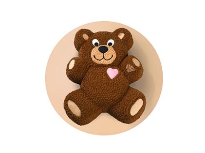 سفارش کیک تولد - کیک تولد خرس عاشق | کیک آف