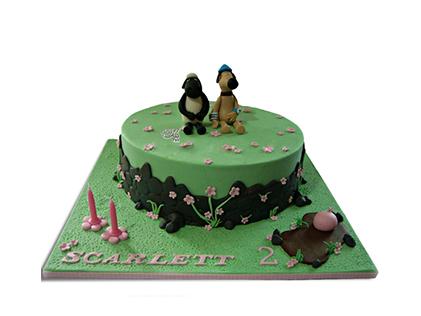 خرید کیک تولد بچه گانه در اصفهان - کیک کارتونی بره ناقلا 2 | کیک آف