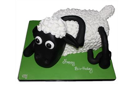 خرید کیک تولد بچه گانه در اصفهان - کیک کارتونی بره ناقلا 3 | کیک آف