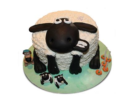 خرید کیک تولد بچه گانه - کیک کارتونی بره ناقلا 4 | کیک آف