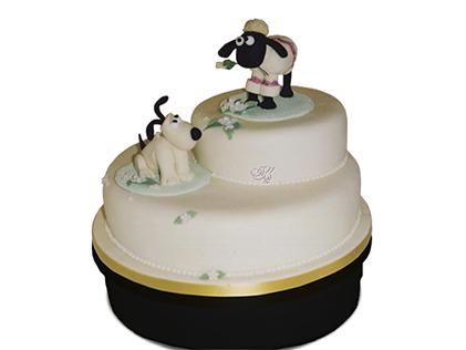 کیک تولد بچه گانه - کیک کارتونی بره ناقلا 5 | کیک آف