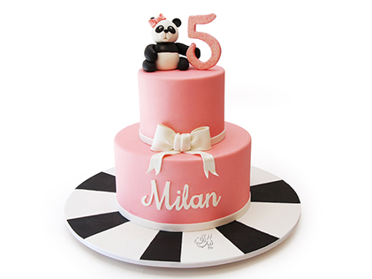 خرید کیک تولد بچه گانه در اصفهان - کیک پاندای ملوس | کیک آف
