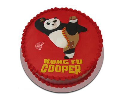 کیک تولد بچه گانه - کیک کیک پاندای کونگ فوکار 1  | کیک آف
