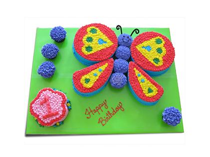 کیک در اصفهان - کیک تولد پروانه و کرم ابریشم | کیک آف