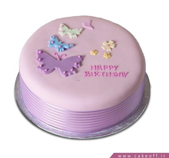 کیک تولد دخترانه هاله