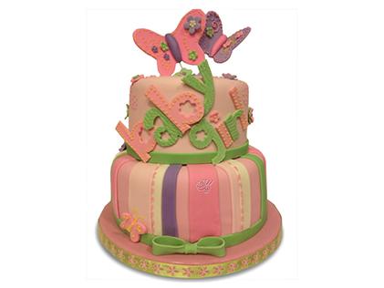 خرید کیک تولد دخترانه - کیک فوندانت سوران | کیک آف