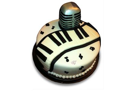 سفارش کیک تولد خاص - کیک تولد پیانو التون جان | کیک آف