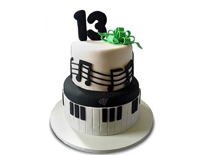 کیک تولد موسیقی - کیک تولد پیانو بیلی جول