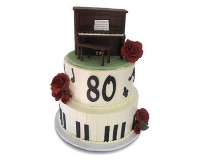 کیک تولد موسیقی - کیک تولد پیانو فردریک چاپین | کیک آف