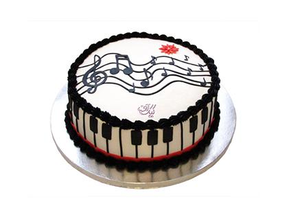 خرید کیک تولد موسیقی - کیک تولد پیانو ویلیام جوزف | کیک آف