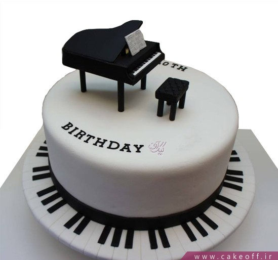 کیک تولد موسیقی - کیک تولد پیانو هوروویتس | کیک آف