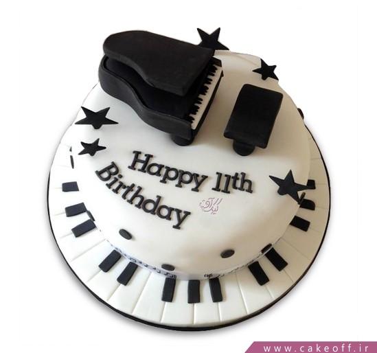 خرید کیک تولد در  اصفهان - کیک تولد پیانو جان لنون | کیک آف