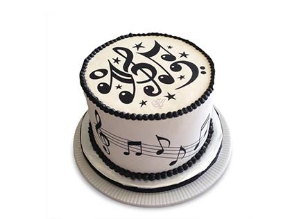 کیک تولد خاص در اصفهان - کیک تولد موسیقی بتهوون |کیک آف