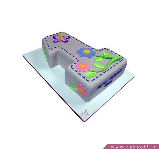 کیک تولد یکسالگی باغ بهاری