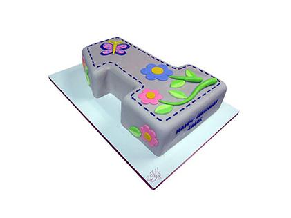 کیک تولد بچگانه - کیک تولد یکسالگی باغ بهادری | کیک آف