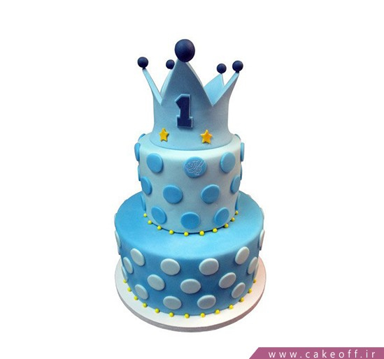 کیک تولد یکسالگی تاج شاهزاده