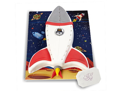 کیک تولد بچگانه سفینه فضایی | کیک آف