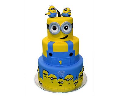 سفارش کیک تولد مینیون - کیک شهر مینیون ها | کیک آف