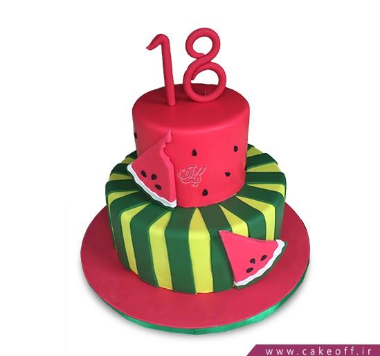 کیک شب یلدا - کیک قرمز شیرین | کیک آف