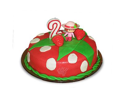 سفارش کیک تولد در اصفهان - کیک دختر توت فرنگی | کیک آف