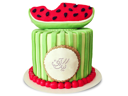 سفارش کیک شب یلدا - کیک به شرط چاقو | کیک آف