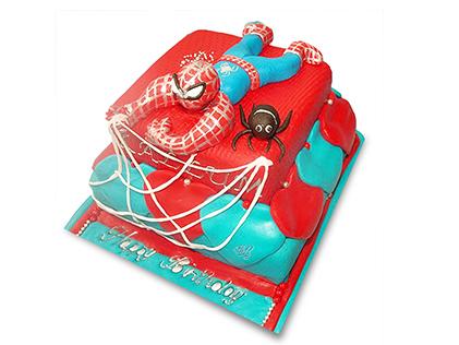 کیک تولد بچه گانه - کیک مرد عنکبوتی 3 | کیک آف