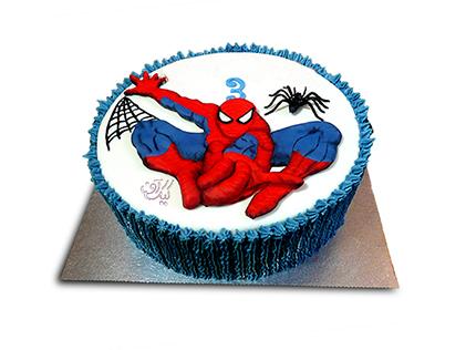 کیک تولد بچه گانه - کیک مرد عنکبوتی 4 | کیک آف