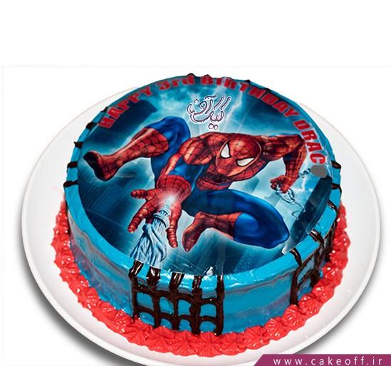 سفارش کیک تولد پسرانه - کیک مرد عنکبوتی ۱ | کیک آف