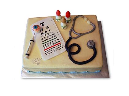 سفارش کیک برای روز پزشک - کیک طبیب من | کیک آف
