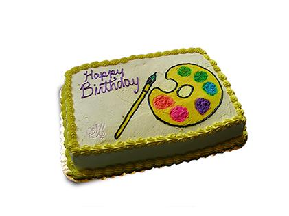 کیک تولد پالت رنگی من | کیک آف
