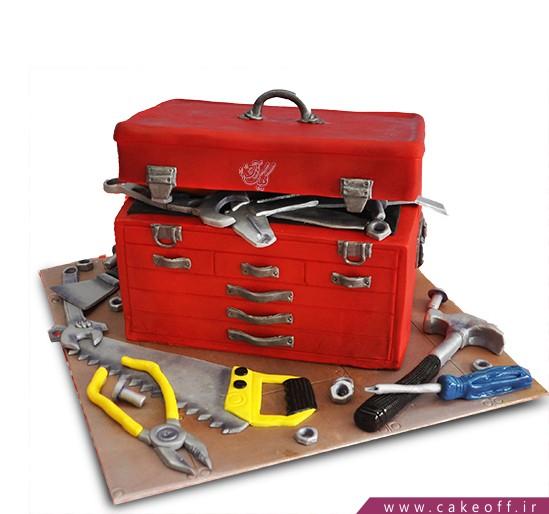 سفارش کیک روز مهندس - کیک جعبه ابزار | کیک آف