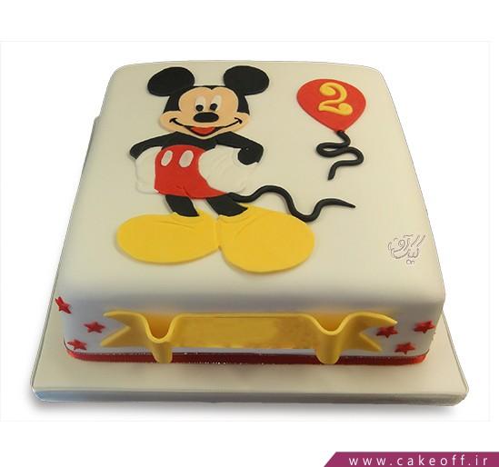 کیک تولد بچه گانه - کیک میکی بازیگوش | کیک آف