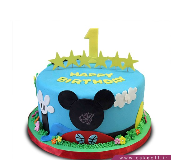 کیک تولد میکی موس - کیک میکی در آسمان | کیک آف