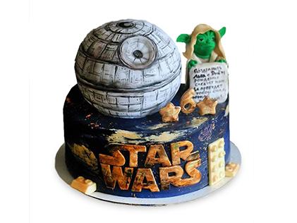 سفارش کیک تولد خاص - کیک جنگ ستارگان  1 | کیک آف