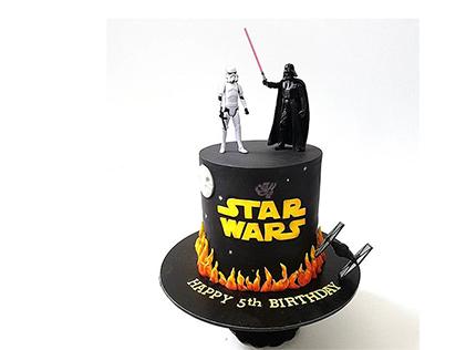 کیک تولد پسرانه جنگ ستارگان 2 | کیک آف