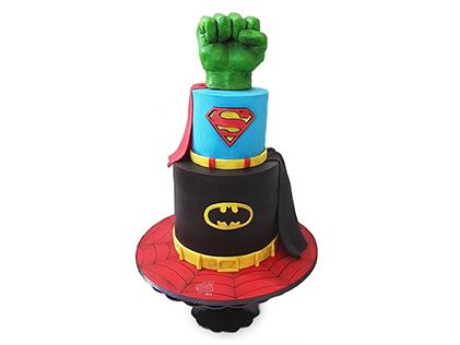 کیک تولد پسرانه ابر قهرمانان | کیک آف