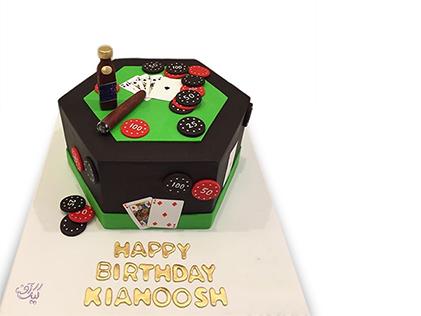 کیک تولد مردانه کازینو | کیک آف