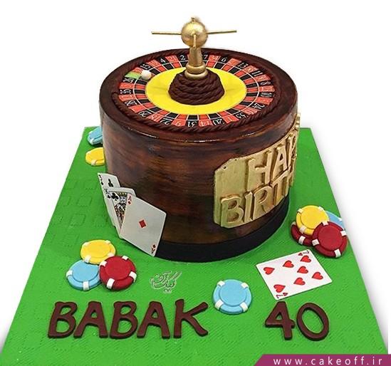 کیک تولد مردانه رولت کازینو | کیک آف