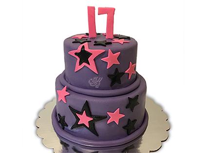 سفارش کیک تولد - کیک شب پر ستاره | کیک آف